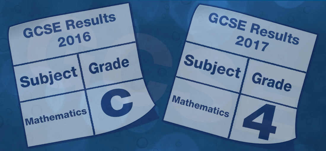 Decorative image depicting GCSE grades